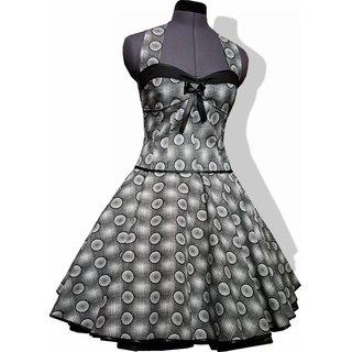 c809e5bdc98664 Petticoat Kleid Rockabilly Tanzkleid schwarz weiße Punkte.