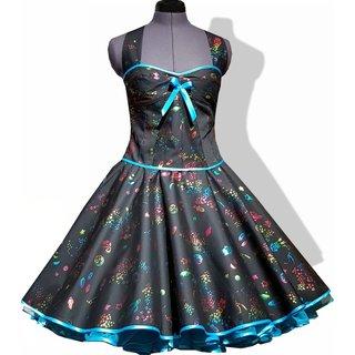 1e5414f6558c7a Petticoat Kleid schwarz mit leuchtenden Sternen Vintage