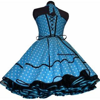 710fd793d059bf ... 50er Kleid Punkte Petticoat türkis grün blau orange pink braun ...