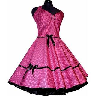 9a064108892f Punkte Petticoat Kleid 2 pink kleine weiße Tupfen - Tanzkleid-d