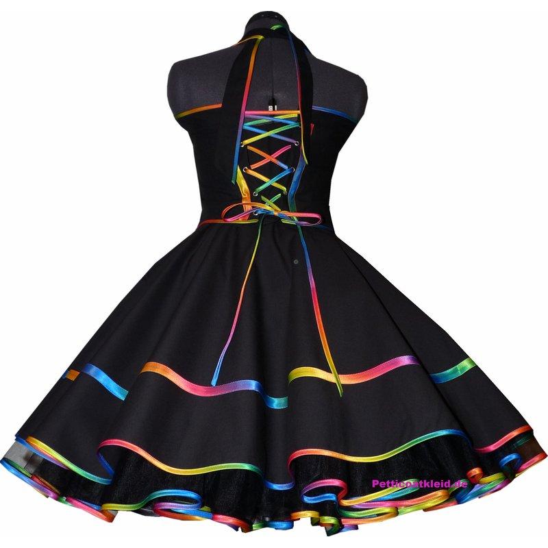 Elegantes Tanzkleid Kleid zum Petticoat regenbogen ...