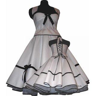premium selection ddaa0 68dd6 Festliches weißes Braut Petticoat Kleid Korsage schwarz bzw rot