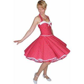 huge selection of 52838 22ee2 50er Korsagen Petticoat Kleid rot kleine weiße Punkte