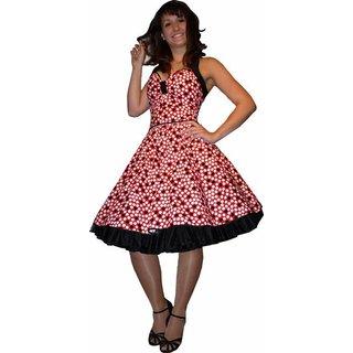f78afc181c77 Petticoatkleid rot mit weißen schwarzen Punkten - Tanzkleid-der