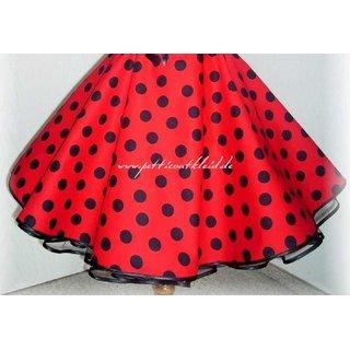 417f9a2ed13911 Tellerrock rot große schwarze Punkte - Tanzkleid-der-50er