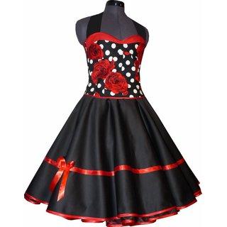 Kleid rot carmenaubchnitt