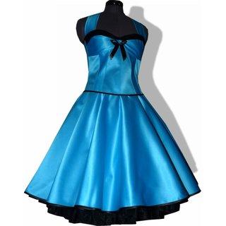 best service 608c6 0c089 Festliches 50er Kleid zum Petticoat türkis schwarz Vintage
