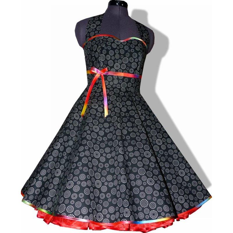 50er Petticoatkleid Tanzkleid zum Petticoat schwarz Band