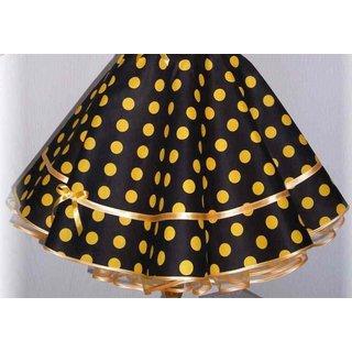 65aa30d323ed Tellerrock schwarz große gelbe Punkte