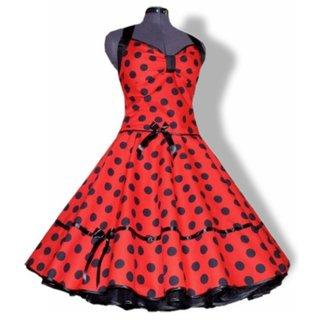 dc53cacce64d2f Punktekleid Rockabilly rot große schwarzeTupfen - Tanzkleid-der