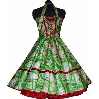6834d2c596f7 Rockabilly Petticoatkleid weiß Streifen lindgrün rot