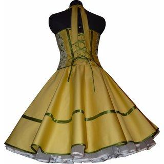 Gelbes petticoat kleid