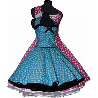 50er Kleid Zum Petticoat Pink Turkis Lila Grun Rot Schwa