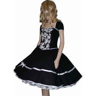size 40 5b9b8 5c240 kleid schwarz mit blumen