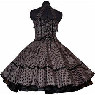 Kleid Zum Petticoat Grau Kleine Schwarze Punkte Tanzkleid Der 50er