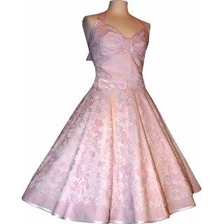 Spitzenkleid Hochzeitskleid 50er Jahre Zum Petticoat Rosa Weiss