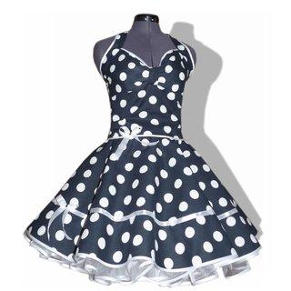 e6de0eb79792 Punkte Kleid Rockabilly 2 schwarz weiße große Tupfen - Ta