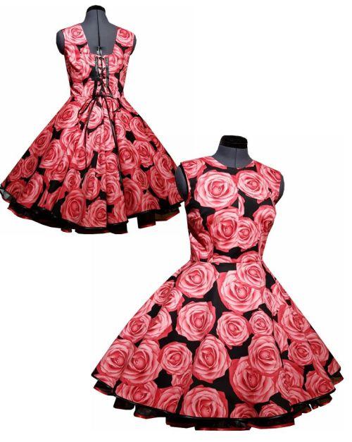 Rosenkleid zum Kleid